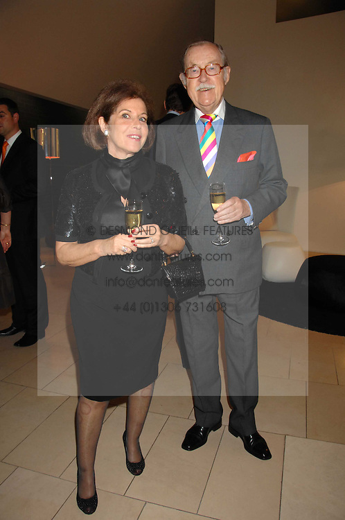 VALERIE KLEEMAN and ALAN WHICKER at the 2007 Luxury Briefing Awards at B&B Italia, 250 Brompton Road, London SW3 on 4th October 2007.<br />