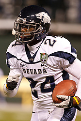 January 9, 2011; San Francisco, CA, USA;  Nevada Wolf Pack cornerback Charles Garrett (24) warms up before the 2011 Fight Hunger Bowl against the Boston College Eagles at AT&T Park. Nevada defeated BC 20-13.