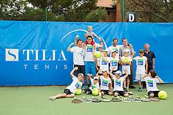 Gregor Krusic, Gregor Repina and Grega Zemlja at Kids day during Day 4 of ATP Challenger Tilia Slovenia Open 2014 on July 10, 2014 in Tennis stadium SRC Marina, Portoroz / Portorose, Slovenia. Photo by Vid Ponikvar / Sportida