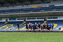 Worcester Valkyries in a pre match huddle - Mandatory by-line: Craig Thomas/JMP - 30/09/2017 - RUGBY - Sixways Stadium - Worcester, England - Worcester Valkyries v Saracens Women - Tyrrells Premier 15s