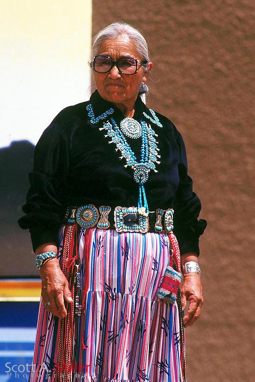Window Rock Ariz. 1993 -- Traditionally dressed Navajo Indian women...Photo/Scott A. Miller