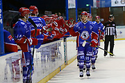 Arturs Mickevics of Lyon during the French Championship Ligue Magnus, Playoffs match 3, Ice Hockey match between Lyon and Amiens on february 27, 2018 at Patinoire Charlemagne in Lyon, France - Photo Romain Biard / Isports / ProSportsImages / DPPI