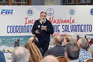 Alessandro Sabatini Protezione Civile<br /> Incontro Nazionale  Coordinatori Salvamento FIN 2018<br /> Federazione Italiana Nuoto - Settore Salvamento<br /> Roma Italy 9-11  Novembre 2018<br /> Foto Giorgio Scala/Deepbluemedia