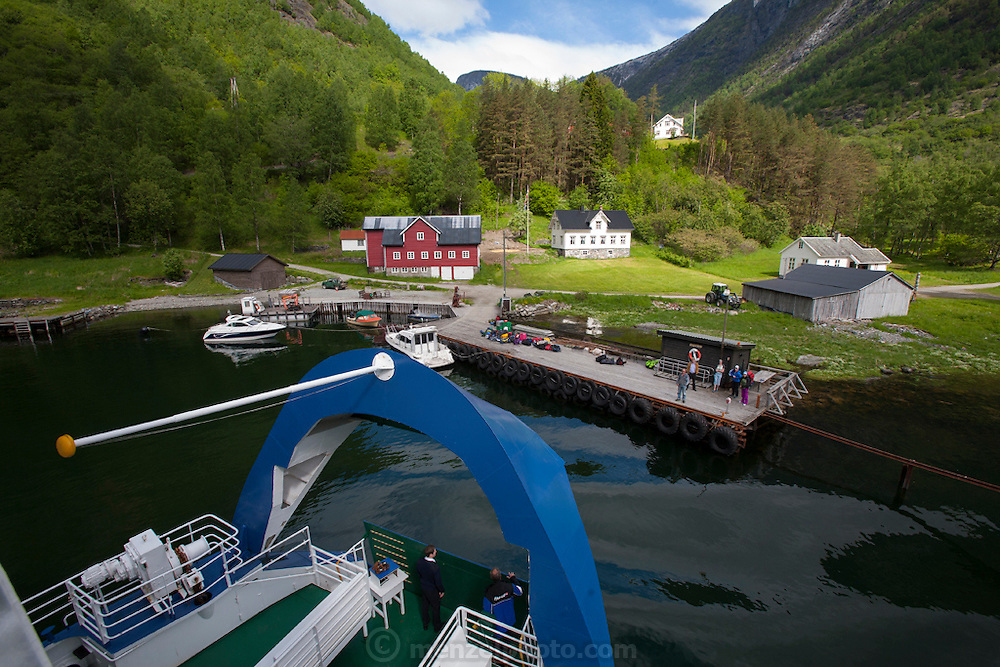 Ferry from Gudvagen to Flam along the Naeroyfjord, a Unesco World Heritage Site.