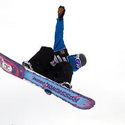 Holly Crawford, Australia, in action during the Women's Half Pipe Qualification in the LG Snowboard FIS World Cup, during the Winter Games at Cardrona, Wanaka, New Zealand, 27th August 2011. Photo Tim Clayton..