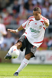 Wrexham, Wales - Saturday, July 7, 2007: Liverpool's Nabil El Zhar during a preseason match against Wrexham at the Racecourse Ground. (Photo by David Rawcliffe/Propaganda)
