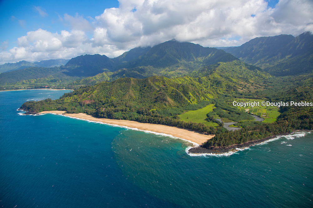 Lumahai Beach, North Shore, Kauai, aerial