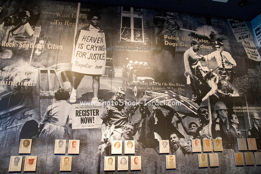 The civil rights museum. Montgomery, AL, USA
