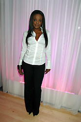 Singer Keisha Buchanan at the Lauren-Perrier 'Pop Art' Pink Party in aid of Capital 95.8's Help A London Child, held at Suka at the Sanderson Hotel, 50 Berners Street, London W1 on 25th April 2007.<br />