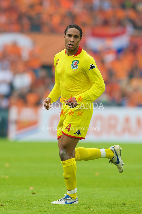 ROTTERDAM, THE NETHERLANDS - Sunday, June 1, 2008: Wales' Ashley Williams in action against the Netherlands during the international friendly match at the de Kuip Stadium. (Photo by David Rawcliffe/Propaganda)