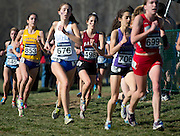 Alicia Fannon '13 races during the NCAA championship in Terre Haute, Ind. on Saturday, November 17, 2012. Fannon was Bates' top finisher at 59th overall, running a time of 22:26 for the 6,000-meter course.