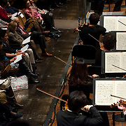 """November 21, 2013 - New York, NY : The New York Philharmonic performs Bejamin Britten's """"Serenade for Tenor, Horn, and Strings, Op. 31 (1943)"""" at Avery Fisher Hall at Lincoln Center on Thursday night. CREDIT: Karsten Moran for The New York Times"""