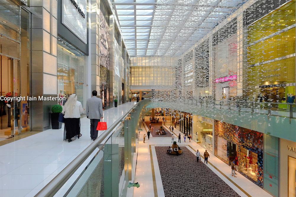 Interior of Dubai Mall in Dubai United Arab emirates