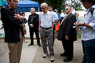 Republican presidential hopeful Ron Paul campaigns at the Iowa State Fair on Friday, August 12, 2011 in Des Moines, IA.