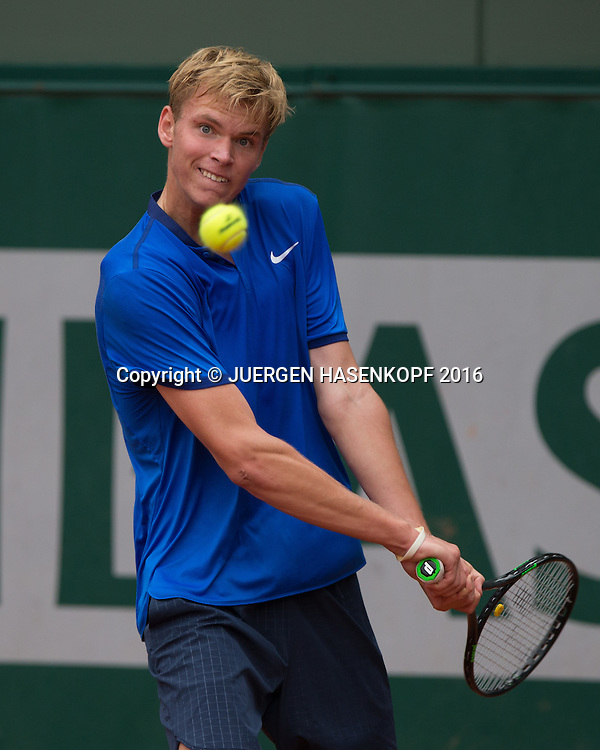 Louis Wessels (GER) Junior Boys<br /> <br /> Tennis - French Open 2016 - Grand Slam ITF / ATP / WTA -  Roland Garros - Paris -  - France  - 1 June 2016.