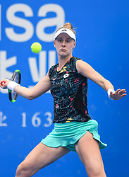 SHENZHEN, Jan. 5, 2019  Alison Riske of the United States competes during the final match against Aryna Sabalenka of Belarus at the WTA Shenzhen Open tennis tournament in Shenzhen, south China's Guangdong Province, Jan. 5, 2019. Aryana Sabalenka won 2-1 and claimed the title. (Credit Image: © Xinhua via ZUMA Wire)