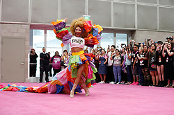 Celebrity attendees, including Bachelorette star Becca Kufrin with her fiancee Garrett Yrigoyen, Brandi Glanville, Ru Paul, Constance Zimmer, and Drag Queens ham it up at Ru Paul's DragCon 2019 held at the Los Angeles Convention Center in downtown Los Angeles,CA. 26 May 2019 Pictured: DragCon Los Angeles 2019. Photo credit: MOVI Inc. / MEGA TheMegaAgency.com +1 888 505 6342
