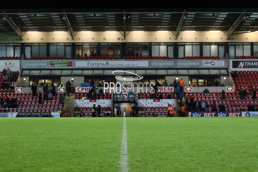 Globe Arena before the Sky Bet League 2 match between Morecambe and Cambridge United at the Globe Arena, Morecambe, England on 24 November 2015. Photo by Pete Burns.