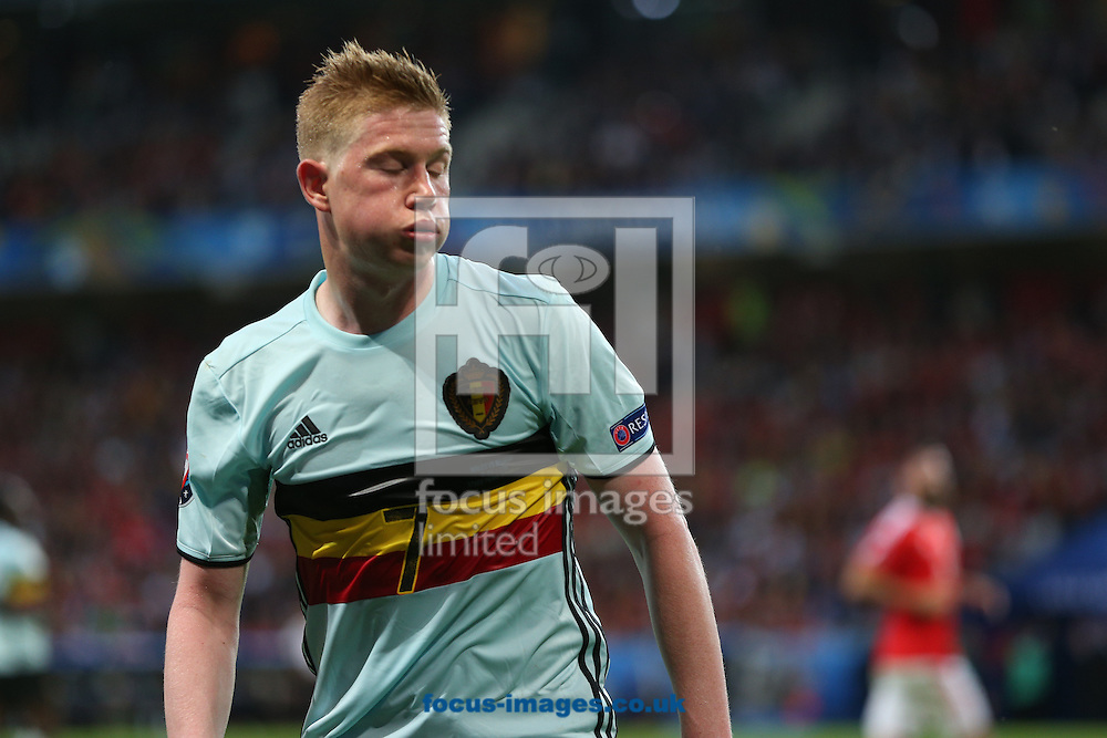 Kevin De Bruyne of Belgium during the UEFA Euro 2016 quarter final match at Stade Pierre-Mauroy, Lille<br /> Picture by Paul Chesterton/Focus Images Ltd +44 7904 640267<br /> 01/07/2016