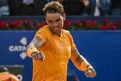 April 27, 2018 - Barcelona, Catalonia, Spain - Barcelona, Spain. 27 April, 2018: .RAFAEL NADAL (ESP) celebrates his victory against Martin Klizan (SVK) in their quarter final of the 'Barcelona Open Banc Sabadell' 2018. Nadal won 6:0, 7:5 (Credit Image: © Matthias Oesterle via ZUMA Wire)