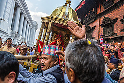 Selected as children, kumaris live in temples, are carried in chariots during festivals and are worshipped by thousands of Hindus and Buddhists. They retire upon puberty.