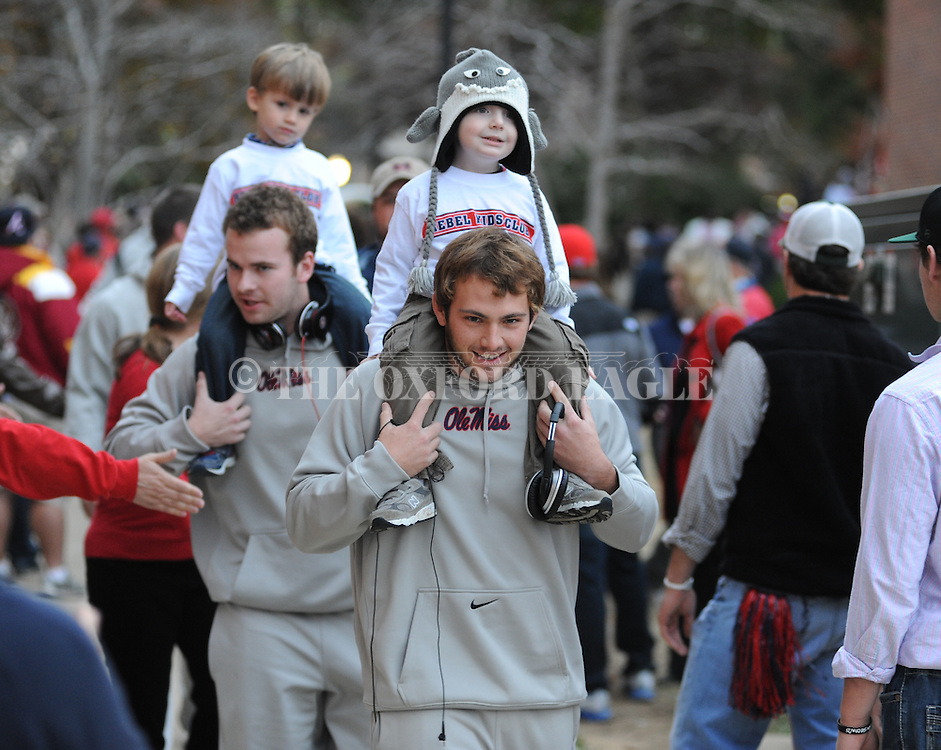 Walk Through The Grove before the Ole Miss vs. Louisiana Tech in Oxford, Miss. on Saturday, November 12, 2011. ..