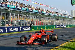 March 16, 2019 - Melbourne, Victoria, Australia - Sebastian Vettel (5) of Germany drives the Scuderia Ferrari SF90 during qualifying for the Australian Formula 1 Grand Prix at Albert Park on March 16, 2019 in Melbourne, Australia  (Credit Image: © Morgan Hancock/NurPhoto via ZUMA Press)