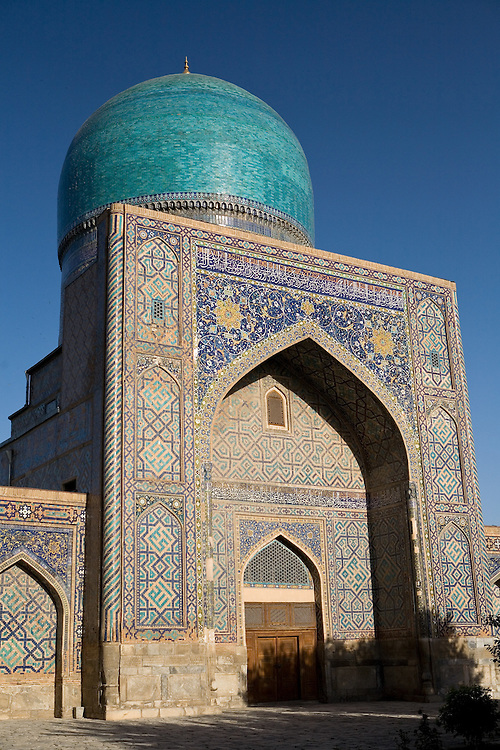 Inside Tilla Kari Medrassa, Registan, Samarkand