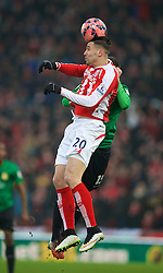 STOKE-ON-TRENT, ENGLAND - Sunday, January 4, 2015: Stoke City's Geoff Cameron in action against Wrexham during the FA Cup 3rd Round match at the Britannia Stadium. (Pic by David Rawcliffe/Propaganda)