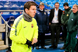 Lionel Messi of FC Barcelona walks out on to the pitch to train ahead of the UEFA Champions League tie against Manchester City - Photo mandatory by-line: Matt McNulty/JMP - Mobile: 07966 386802 - 23/02/2015 - SPORT - Football - Manchester - Etihad Stadium