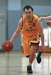Miha Cmer at 12th Round of UPC League basketball match between KK Luka Koper and KK Zlatorog Lasko, on May 2, 2009, in Arena Bonifika, Koper, Slovenia. Zlatorog won the match 72:71. (Photo by Vid Ponikvar / Sportida)