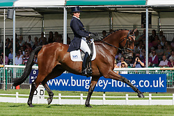 Land Rover Burghley Horse Trials. <br /> Sarah Cohen and TREASON during the Dressage phase, Burghley House, Stamford, UK, Thursday, 5th September 2013. Picture by Nico Morgan / i-Images.