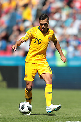 June 16, 2018 - Kazan, Kazan, France - defender Trent Sainsbury of Australia National team during a  Group C 2018 FIFA World Cup soccer match between France and Australia on June 16, 2018, at the Kazan Arena in Kazan, Russia. (Credit Image: © Anatolij Medved/NurPhoto via ZUMA Press)