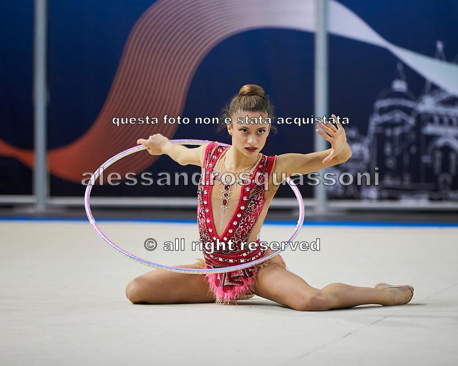 Francesca Pellegrini from Raffaello Motto team during the Italian Rhythmic Gymnastics Championship in Padova, 25 November 2017.