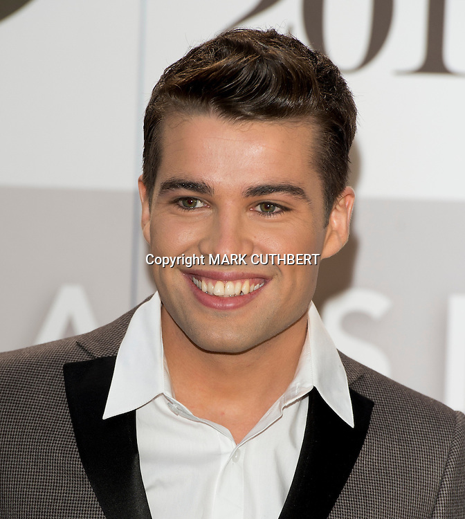Joe McElderry arriving at the 2012 Classic Brit Awards at the Royal Albert Hall in London.