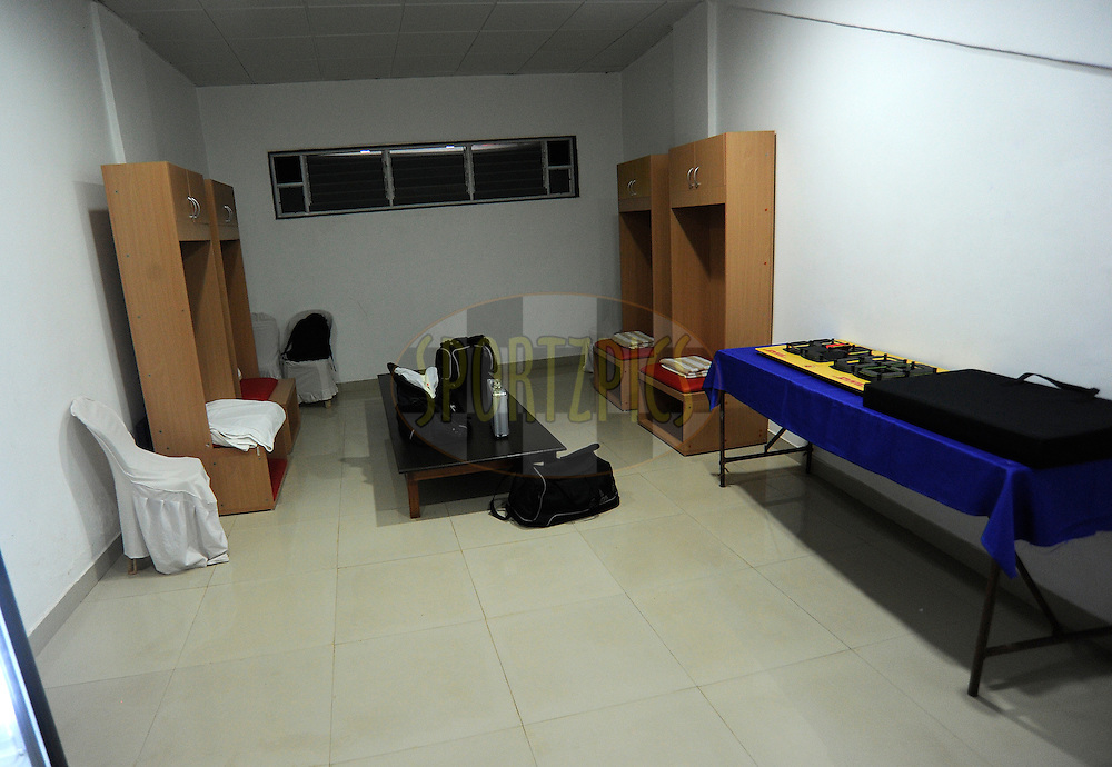Referee Rooms during match 36 of the Indian Super League (ISL) season 2  between Mumbai City FC vs FC Pune City held at the D.Y. Patil Stadium, Navi Mumbai, India on the 13th November 2015.<br /> <br /> Photo by Pal Pillai / ISL/ SPORTZPICS
