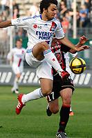 FOOTBALL - FRENCH CHAMPIONSHIP 2010/2011 - L1 - OGC NICE v OLYMPIQUE LYONNAIS - 3/04/2011 - PHOTO PHILIPPE LAURENSON / DPPI - CLEMENT GRENIER (OL)