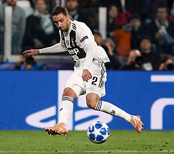 November 8, 2018 - Turin, Italy - Mattia De Sciglio of Juventus passes the ball during the Group H match of the UEFA Champions League between Juventus FC and Manchester United FC on November 7, 2018 at Juventus Stadium in Turin, Italy. (Credit Image: © Mike Kireev/NurPhoto via ZUMA Press)