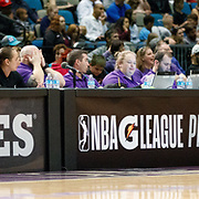 The Reno Bighorn Stats table during the Western Conference Semi-Final NBA G-League Basketball game between the Reno Bighorns and the South Bay Lakers at the Reno Events Center in Reno, Nevada.