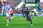 Leeds United forward Eddie Nketiah (14) during the EFL Sky Bet Championship match between Huddersfield Town and Leeds United at the John Smiths Stadium, Huddersfield, England on 7 December 2019.