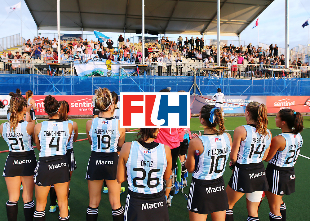 New Zealand, Auckland - 24/11/17  <br /> Sentinel Homes Women&rsquo;s Hockey World League Final<br /> Harbour Hockey Stadium<br /> Copyrigth: Worldsportpics, Rodrigo Jaramillo<br /> Match ID: 10307 - ARG-GER<br /> Photo: