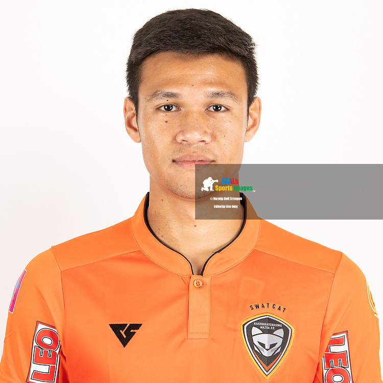 THAILAND - JUNE 25: Nattapong Sayriya #37 of Nakhonratchasrima Mazda FC on June 25, 2019.<br /> .<br /> .<br /> .<br /> (Photo by: Naratip Golf Srisupab/SEALs Sports Images/MB Media Solutions)