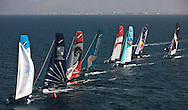 Extreme Sailing Series 2011. Leg 1. Muscat. Oman.Day 1 of racing, The Wave Muscat lead the fleet