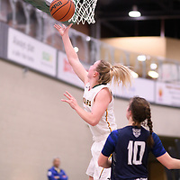 5th year guard Sara Hubenig (7) of the Regina Cougars during the Women's Basketball home game on January 5 at Centre for Kinesiology, Health and Sport. Credit: Arthur Ward/Arthur Images