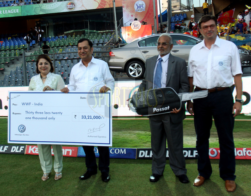 Volswagen passat car auction  during the Qualifier 1 match of the Indian Premier League ( IPL ) Season 4 between the Royal Challengers Bangalore and the Chennai Superkings held at the Wankhede Stadium, Mumbai, India on the 24th May 2011..Photo by Sandeep Shetty/BCCI/SPORTZPICS..