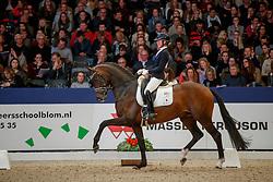 De Laat Femke, NED, Intro K<br /> KWPN Stallionshow - 's Hertogenbosch 2018<br /> © Hippo Foto - Dirk Caremans<br /> 02/02/2018