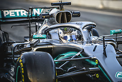 February 19, 2019 - Barcelona, Catalonia, Spain - VALTTERI BOTTAS (FIN) from team Mercedes drives in his 10 during day two of the Formula One winter testing at Circuit de Catalunya (Credit Image: © Matthias Oesterle/ZUMA Wire)