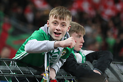 Northern Ireland fans remain upbeat despite failing to qualify after the FIFA World Cup Qualifying second leg match at St Jakob Park, Basel.