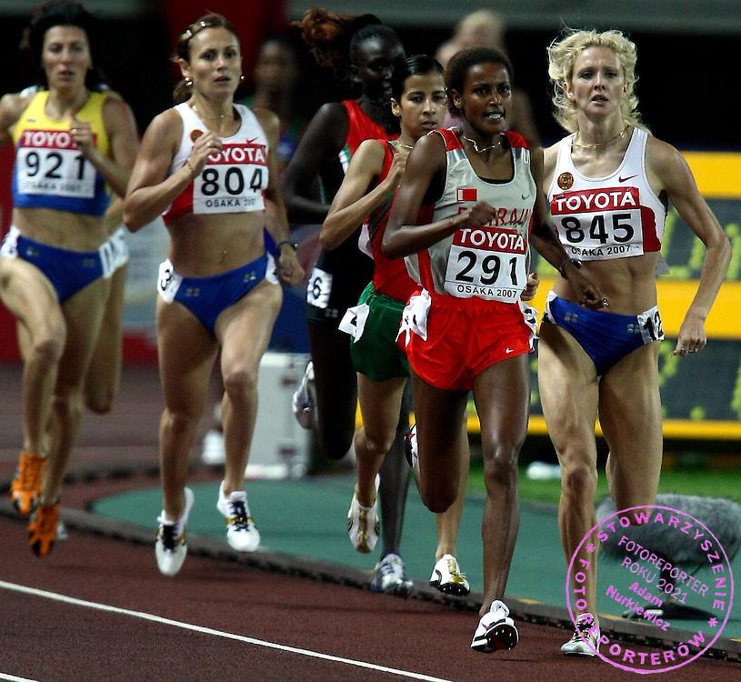 n/z.: (2R) Maryam Yusuf Jamal (nr291-Bahrajn) podczas finalu w biegu na 1500 metrow kobiet podczas Mistrzostw Swiata w lekkiej atletyce w Osace w Japonii. lekka atletyka , Japonia , Osaka , 02-09-2007 , fot.: Adam Nurkiewicz / Mediasport..(2R) Maryam Yusuf Jamal (nr291-Bahrain) competes in the final of the women's 1500 metres during the 11th IAAF World Athletics Championship at Nagai Stadium in Osaka September 02, 2007.  ( Photo by Adam Nurkiewicz / Mediasport )