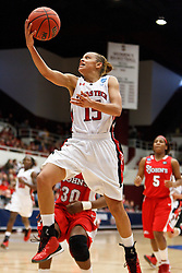 March 19, 2011; Stanford, CA, USA; Texas Tech Lady Raiders guard Casey Morris (15) shoots against the St. John's Red Storm during the second half of the first round of the 2011 NCAA women's basketball tournament at Maples Pavilion. St. John's defeated Texas Tech 55-50.